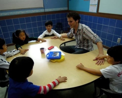 Teaching English to kindergarten kids